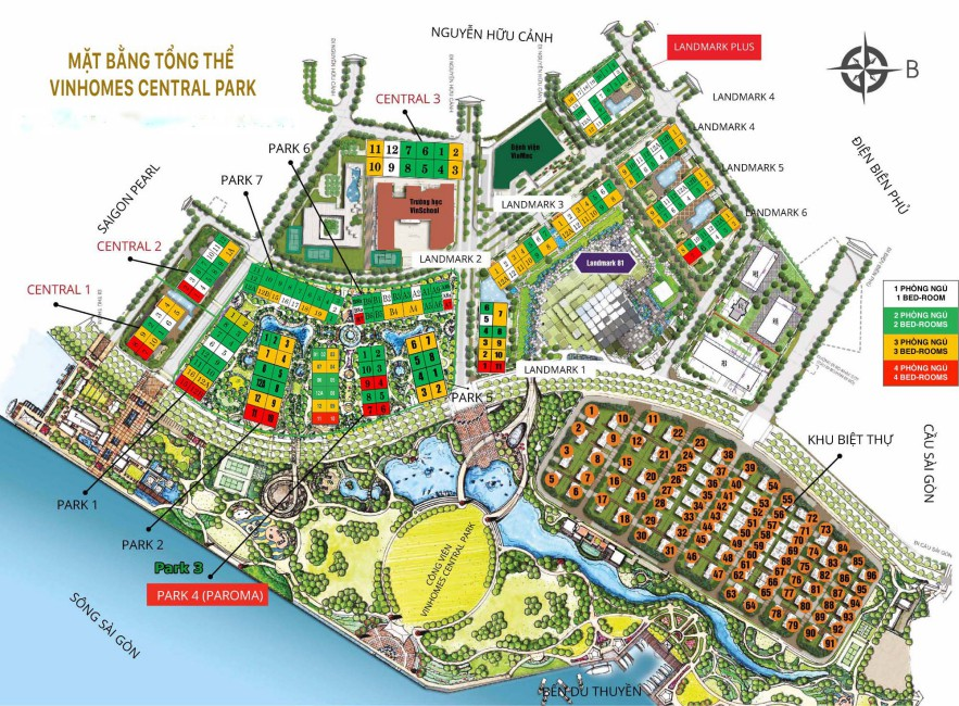 phong kinh doanh dat xanh vinhome central park mat bang