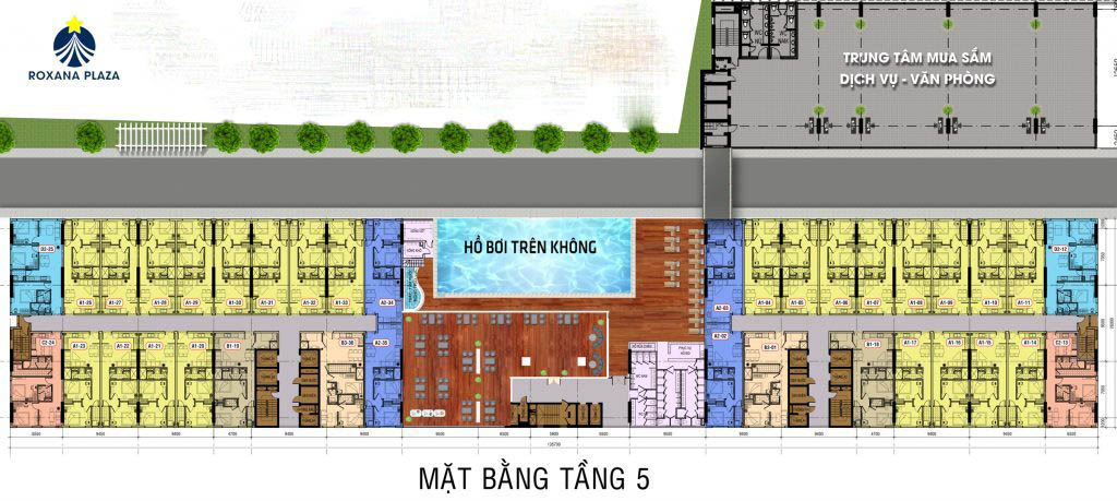 phong kinh doanh dat xanh roxana plaza mat bang tang 5