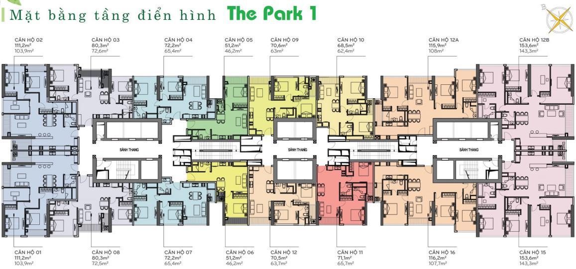 phong kinh doanh dat xanh vinhome central park park 1